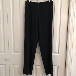 Dana Buchman size 12 black 100% wool trousers EUC